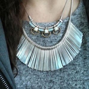 Stella and Dot Essential Fringe Necklace- Silver